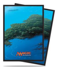 Magic the Gathering MANA 5 Unhinged Island Ultra Pro Sleeve 80ct. (#86455)