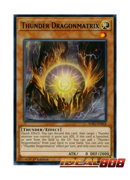 Yugioh SOFU-EN018 Thunder Dragonmatrix Rare 1st Edition NM