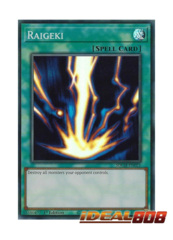 Raigeki - SDCH-EN021 - Super Rare - 1st Edition