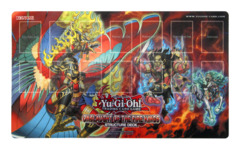 Onslaught of the Fire Kings Structure Deck Playmat (Garunix, Barong, Kirin)
