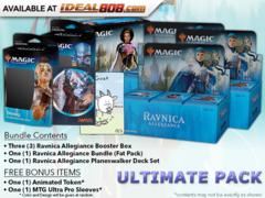 MTGRNA Ultimate Pack - Get x3 Ravnica Allegiance Booster Box; x1 Bundle; & 1 Planeswalker Deck Set +FREE Bonus Items * PRE-ORDER