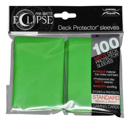 Ultra Pro Matte Eclipse Standard Sleeves 100ct - Lime Green [#85606]