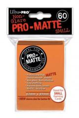 Ultra Pro Matte Non-Glare Small Sleeves 60ct - Orange (#84266)