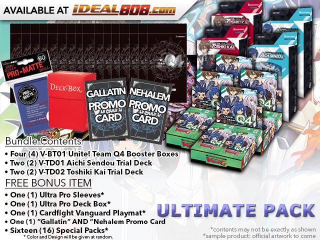 CFV-V-BT01  ULTIMATE PACK - Get x4 Unite! Team Q4 Booster Box, x2 V-TD01 Aichi, x2 V-TD02 Kai Decks + FREE Bonus
