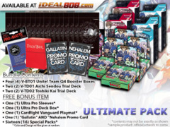 CFV-V-BT01  ULTIMATE PACK - Get x4 Unite! Team Q4 Booster Box, x2 V-TD01 Aichi, x2 V-TD02 Kai Decks + FREE Bonus * Jun.22