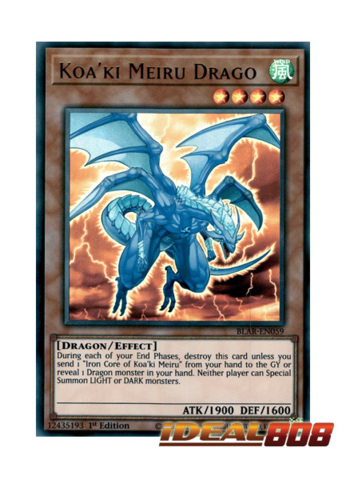 3 x BLAR-EN059 KOA/'KI MEIRU DRAGO Ultra Rare 1st Edition NEW YuGiOh