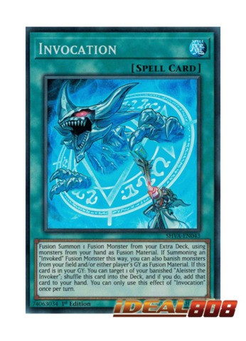 Invocation - SHVA-EN043 - Super Rare - 1st Edition