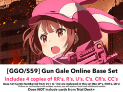 [GGO/S59] SAO Alternative - Gun Gale Online - (EN) Base Playset [Includes RR's, R's, U's, C's, CR's, CC's (400 cards)]