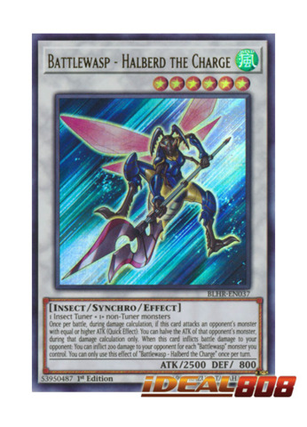 Battlewasp - Halberd the Charge - BLHR-EN037 - Ultra Rare - 1st Edition
