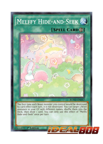 ROTD-EN057 Yugioh 3x Melffy Hide-and-Seek Common 1st Edition Preorder 8//7//