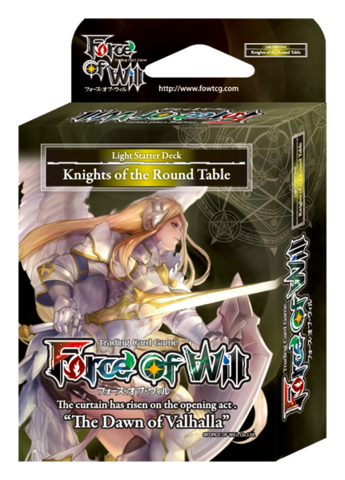 Force Of Will Knights Of The Round Table.Sds1 St01 Knights Of The Round Table English Force Of Will Light Starter Deck
