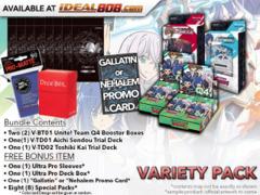 CFV-V-BT01  VARIETY PACK - Get x2 Unite! Team Q4 Booster Box, x1 V-TD01 Aichi, x1 V-TD02 Kai Decks + FREE Bonus * Jun.22
