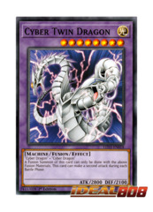 Cyber Twin Dragon - LED3-EN018 - Common - 1st Edition