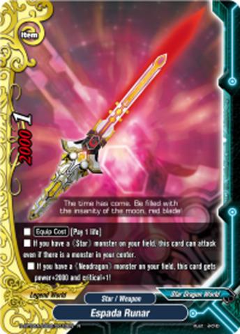 Espada Runar (Red) [D-BT02A-SS02/0010EN R (FOIL Artwork: Red)] English