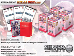 Weiss Schwarz BD Bundle (B) Silver - Get x4 BanG Dream! Girls Band Party! Booster Boxes + FREE Bonus