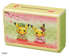 Pokemon Center Hannari Tea Party Pikachu Double Deck Case