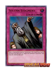 Solemn Judgment - BLRR-EN100 - Ultra Rare - 1st Edition