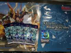 !CFV-V-BT11 Storm of the Blue Cavalry (English) Cardfight Vanguard SNEAK PREVIEW Player KIT [4x Packs + Preceed Swirl Dragon]