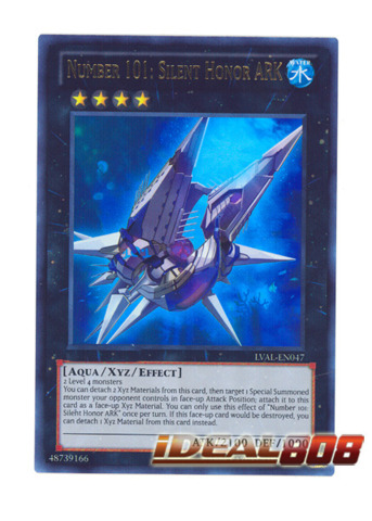 Number 101: Silent Honor ARK - LVAL-EN047 - Ultra Rare - Unlimited