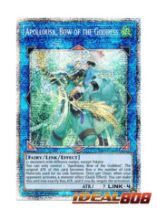 Apollousa  Bow of the Goddess - RIRA-EN048 - Prismatic Secret Rare - 1st Edition