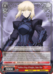 Ruthless King of Knights, Saber Alter [FS/S64-E056 RR (Mosaic Gloss)] English