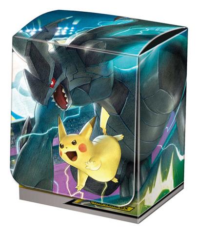 Pokemon Sun Moon Deck Box Pikachu Zekrom Tag Team Gx