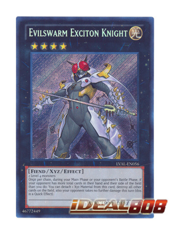 Evilswarm Exciton Knight - LVAL-EN056 - Secret Rare - Unlimited