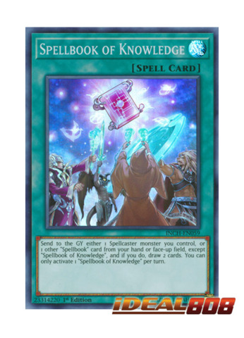 Spellbook of Knowledge - INCH-EN059 - Super Rare - 1st Edition