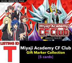 # Miyaji Academy CF Club [V-BT03 ID (T)] Secret Rare ▽ Im Gift Marker Collection x1 [Includes 1 of each SCR's (5 cards)]