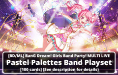 [BD/ML] BanG Dream! Girls Band Party! MULTI LIVE (EN) Pastel Palettes Band Playset [100 cards] (See description for details)