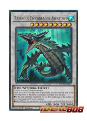 Ravenous Crocodragon Archethys - ETCO-EN043 - Ultra Rare - 1st Edition