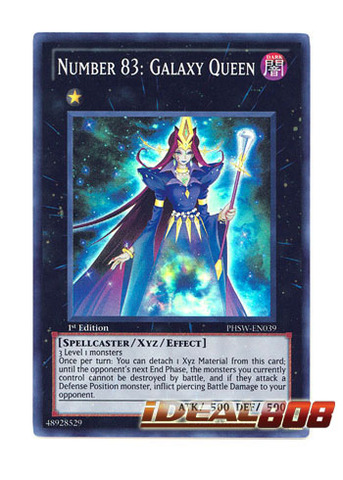 Number 83: Galaxy Queen - PHSW-EN039 - Super Rare - 1st Edition