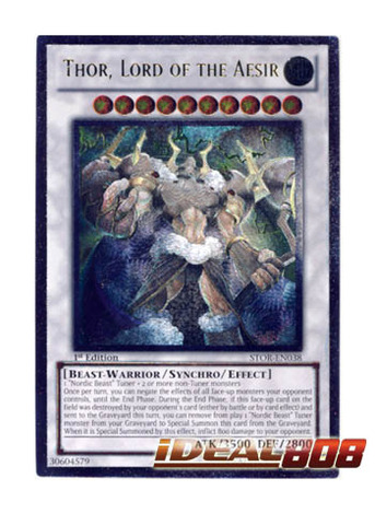 Thor, Lord of the Aesir - STOR-EN038 - Ultimate Rare - Unlimited Edition