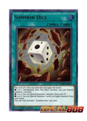 Summon Dice - BLRR-EN002 - Ultra Rare - 1st Edition