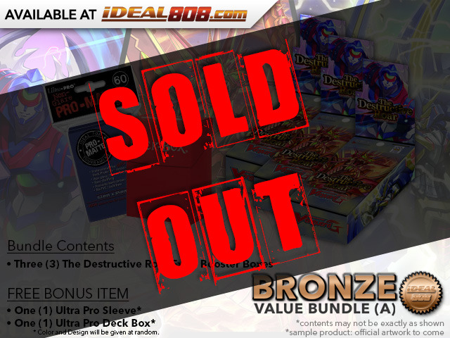 CFV-V-EB01  Bundle (A) Bronze - Get x3 The Destructive Roar Cardfight Vanguard Booster Box + FREE Bonus Items