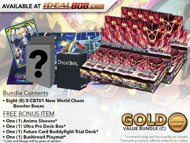 BFE X-CBT01 Bundle (C) Gold - Get x8 Driven to Disorder Booster Box + FREE Bonus Items