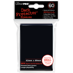 Ultra Pro Small Sleeves 60ct. - Black (#82964)