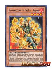 Brotherhood of the Fire Fist - Dragon - CBLZ-EN025 - Super Rare - 1st Edition