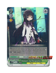 Homura's Sad Resignation [MM/W17-E021SP SP (SIGNED FOIL)] English