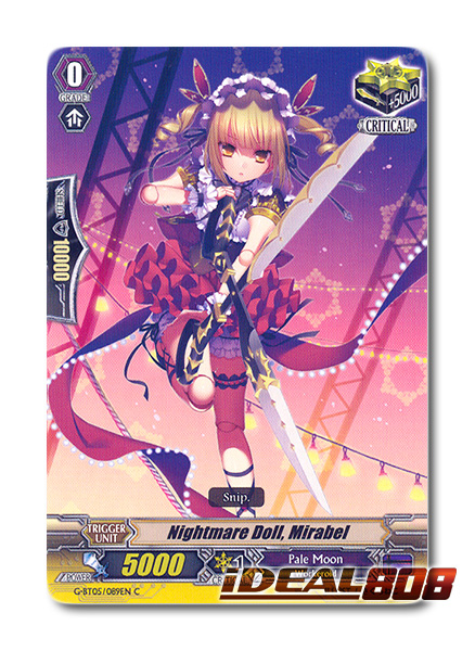 CARDFIGHT VANGUARD CARD NIGHTMARE DOLL MIRABEL G-BT05//089EN C
