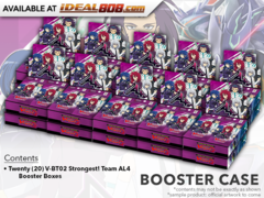 CFV-V-BT02 Strongest! Team AL4 (English) Cardfight Vanguard V-Booster  Case [20 Boxes]