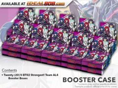 CFV-V-BT02 Strongest! Team AL4 (English) Cardfight Vanguard V-Booster  Case [20 Boxes] * PRE-ORDER Ships Oct.19
