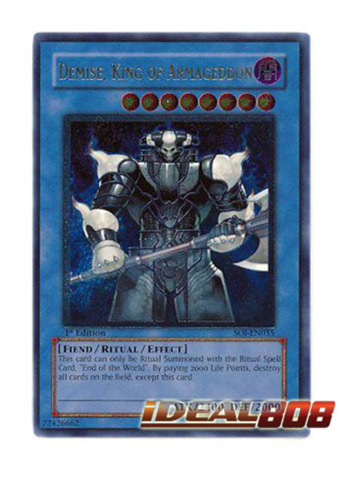 Demise, King of Armageddon - SOI-EN035 - Ultimate Rare - Unlimited Edition