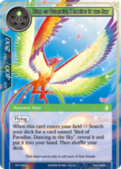 Bird of Paradise, Dancing in the Sky [CFC-052 R (Textured Foil)] English
