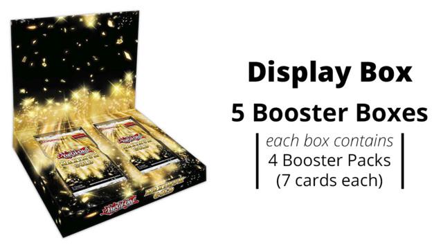 Maximum Gold Yugioh  Display Box [5 Boxes w/4 packs each] * PRE-ORDER Ships Nov.13