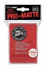 Ultra Pro Matte Non-Glare Large Sleeves 50ct. - Red (#82650)