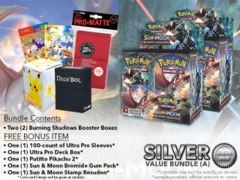 Pokemon SM03 Bundle (A) Silver - Get x2 Burning Shadows Booster Box + FREE Bonus