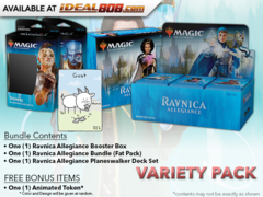 MTGRNA Variety Pack - Get x1 Ravnica Allegiance Booster Box; x1 Bundle; & 1 Planeswalker Deck Set +FREE Bonus Items * PRE-ORDER