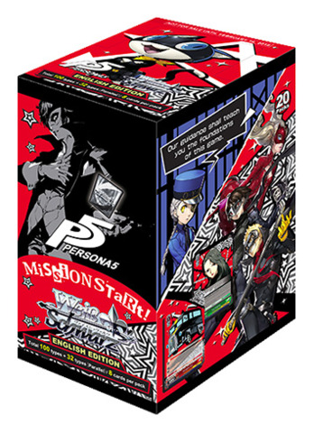 Persona 5 (English) Weiss Schwarz Booster Box * PRE-ORDER Ships Feb.16, 2018