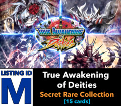 # True Awakening of Deities [S-BT03 ID (M)] Secret Rare Collection [Includes 1 of each Secret (15 cards)]